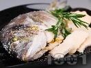Рецепта Печена риба ципура в сол на фурна